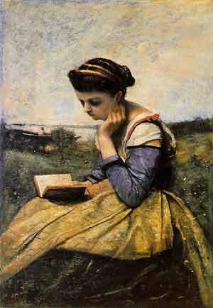 woman_reading_corot